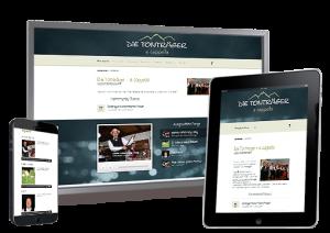 Beispiel einer durch unsere Agentur responsiv gestalteten Internetseite