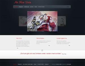 Internetseite der Künstlerin Moni Stein
