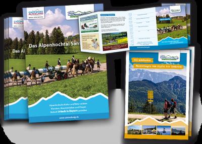 Tourismus Samerberg: Gastgeberverzeichnis, Gästekarten und Wanderbooklett