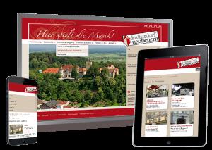 Screenshot der responsiven Internetseite Marktgemeinde Neubeuern