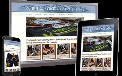 Schuh und Trachten Auer in Törwang mit neuer Website