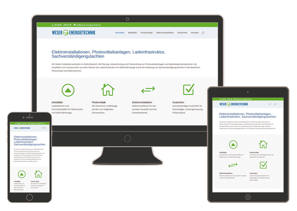 Internetseite Weser-Energietechnik.de