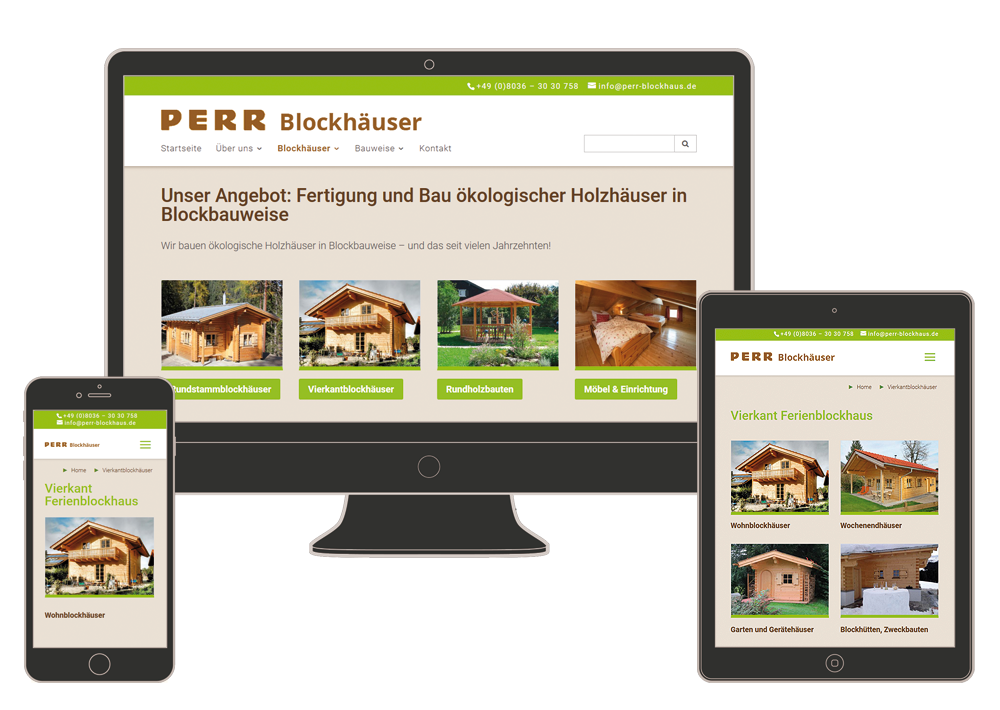 Screenshot Perr-Blockhaus.de