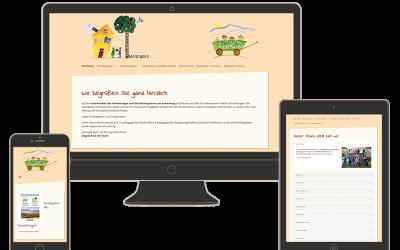 Neue responsive Website für den Kindergarten Samerberg