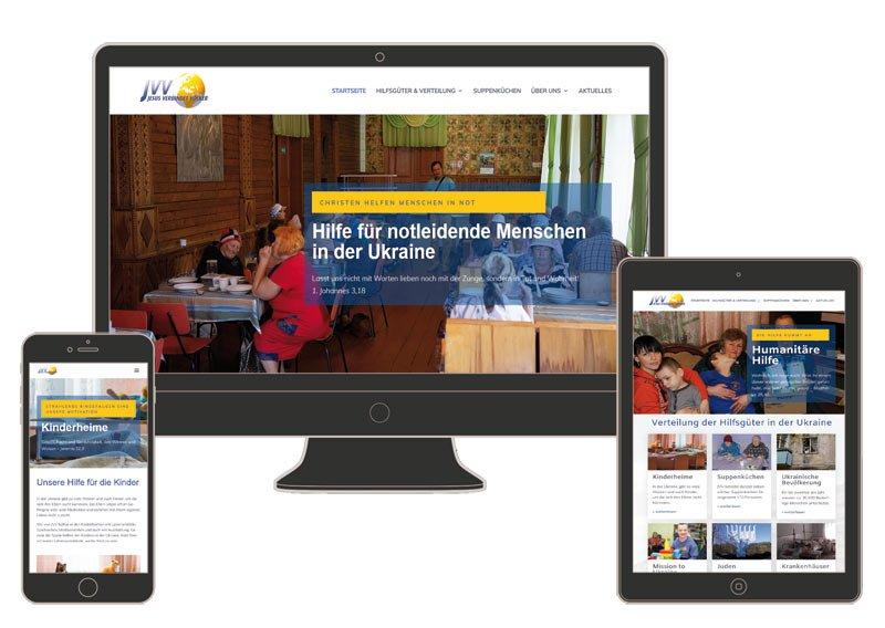 Internetseite für JVV (Jesus Verbindet Völker)