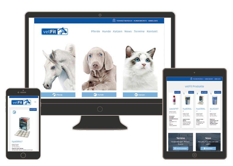 Neuer Onlineshop für vetFit