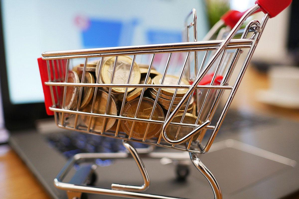 Online-Shop Einkaufswagen